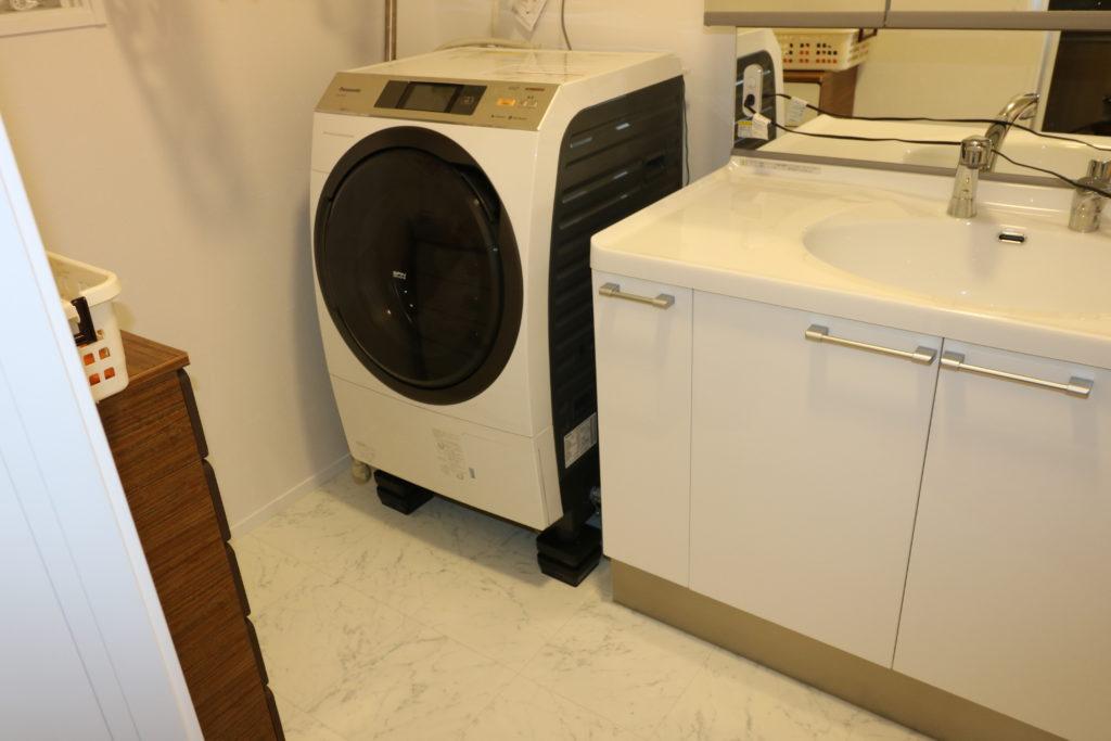 タツフトのhmd-5505の上に洗濯機を乗せた