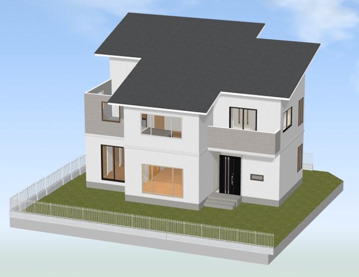 3dマイホームデザイナーで作られた3d家画像