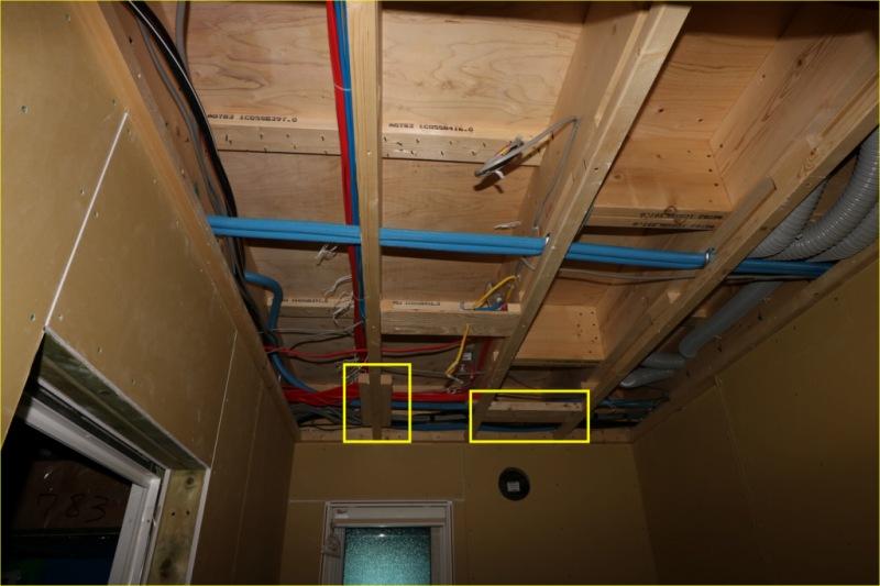 建築集の洗面所天井