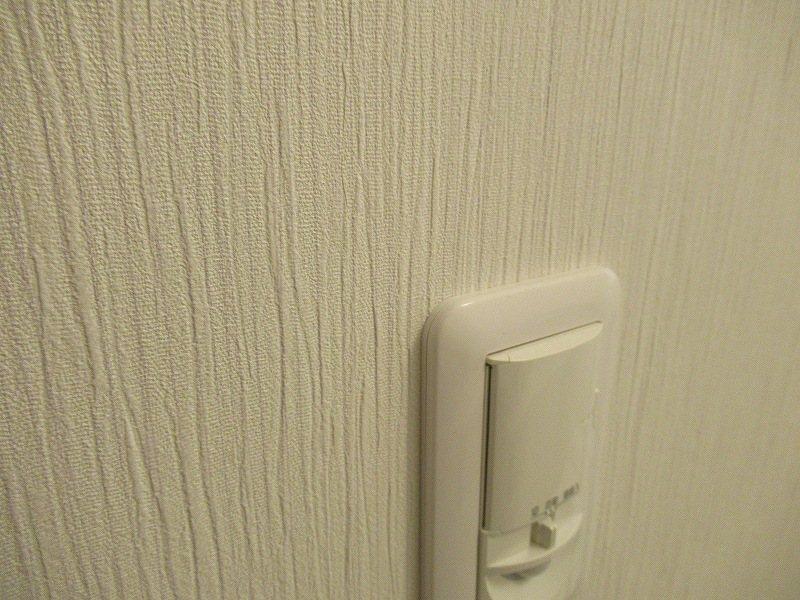 壁紙と照明スイッチ