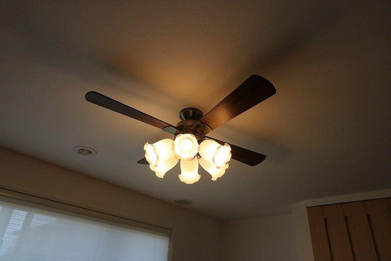 天井のファンライト